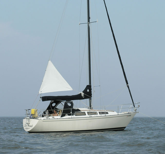 File:Riding sail on small yacht.jpg